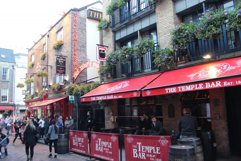 Temple Bar Area Dublin bars pubs Ireland