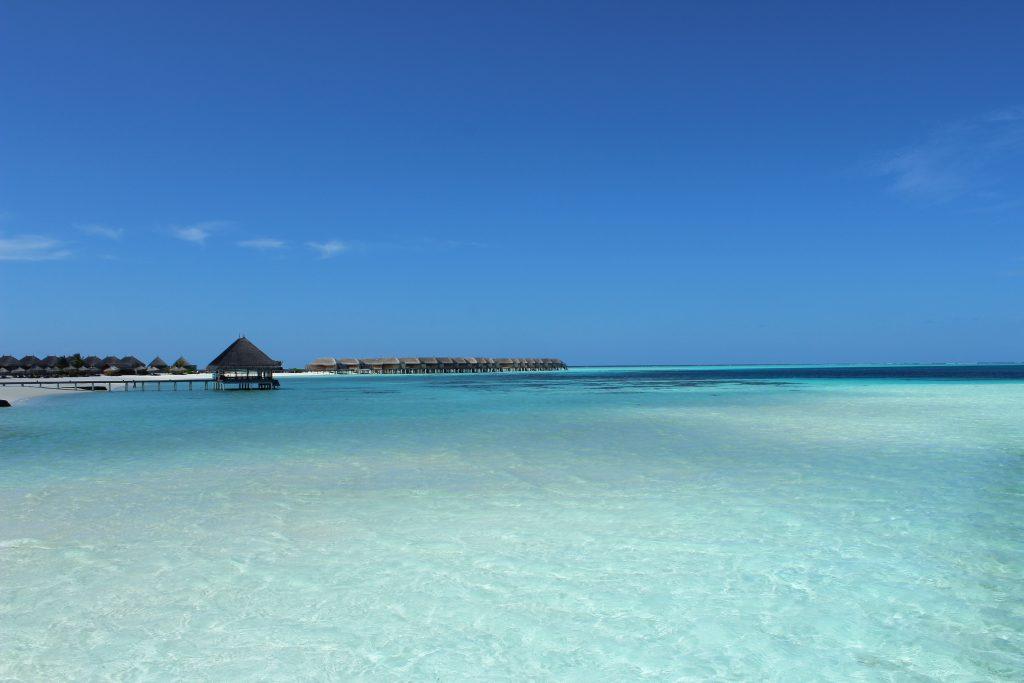 Maldives dream in endless blue honeymoon holidays white sand beach beautiful