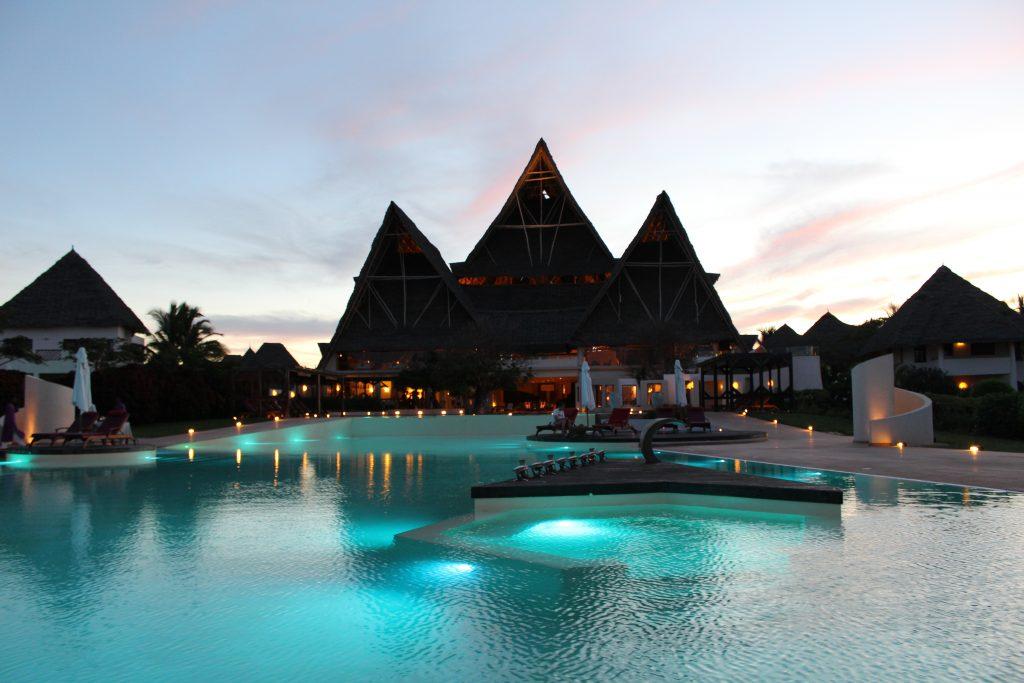 Luxury in Zanzibar Tanzania beach hotel infinity pool