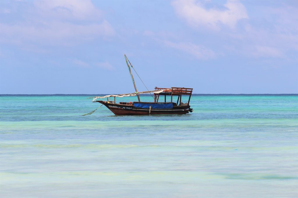 Zanzibar sandy beaches offering the warmest waters I have swam in Tanzania
