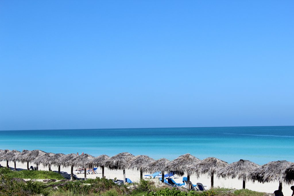 Wonderful sandy beach, turquoise waters Cayo Santa Maria Cuba