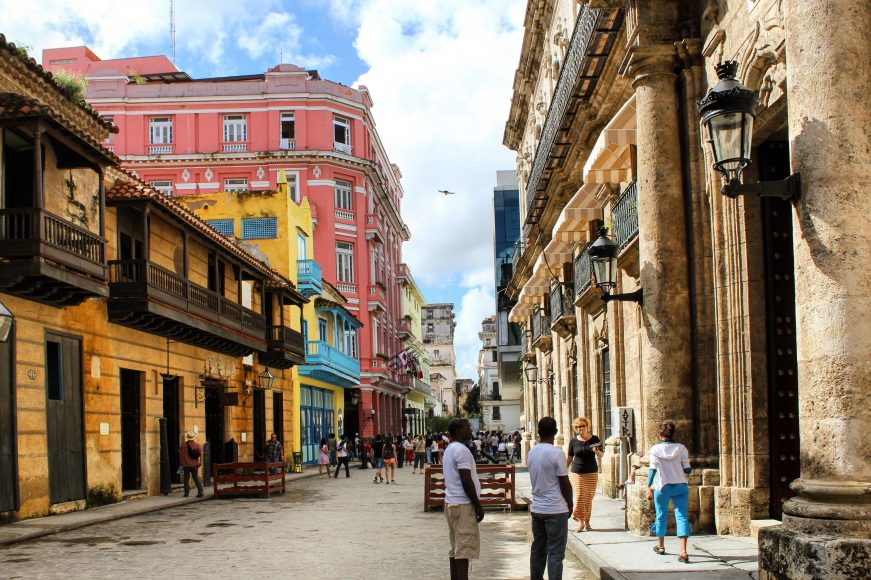 Colourful Havana Vieja Cuba antique buildings vintage
