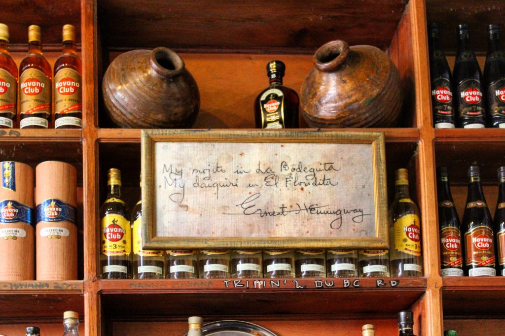 Mojito Daiquiri El Bodeguita Floridita Ernest Hemingway Havana Cuba Rum drinks