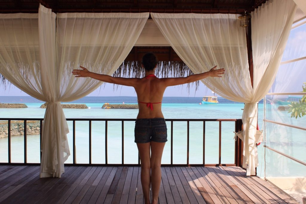 Maldives Yoga with amazing views, before a relaxing massage