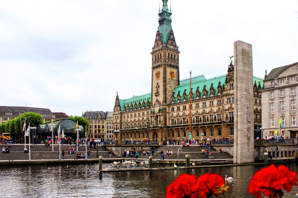 The very centre of Hamburg - Rathaus platz (aka the Town Hall) Germany travel