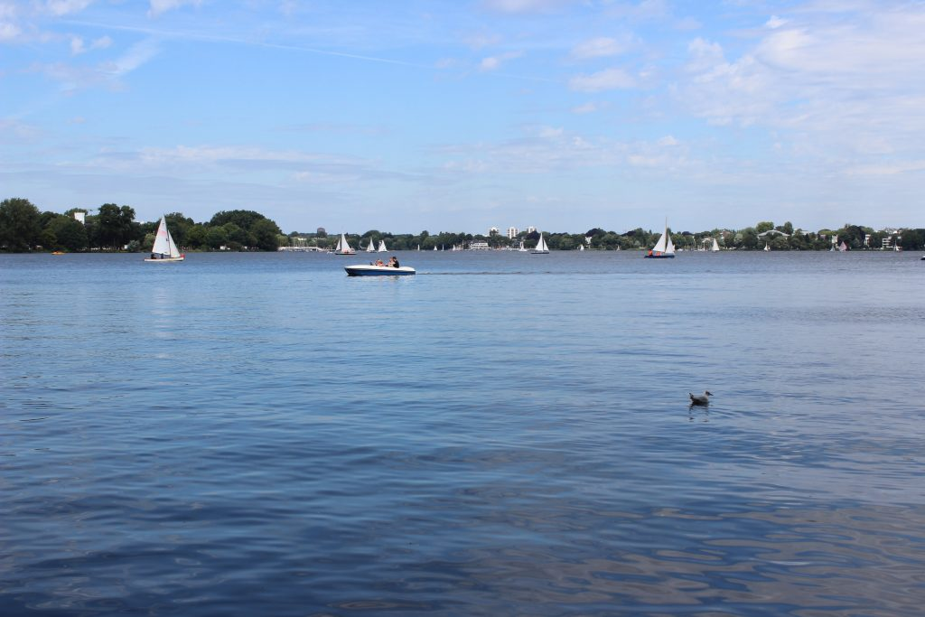 Alster lake Hamburg Germany travel