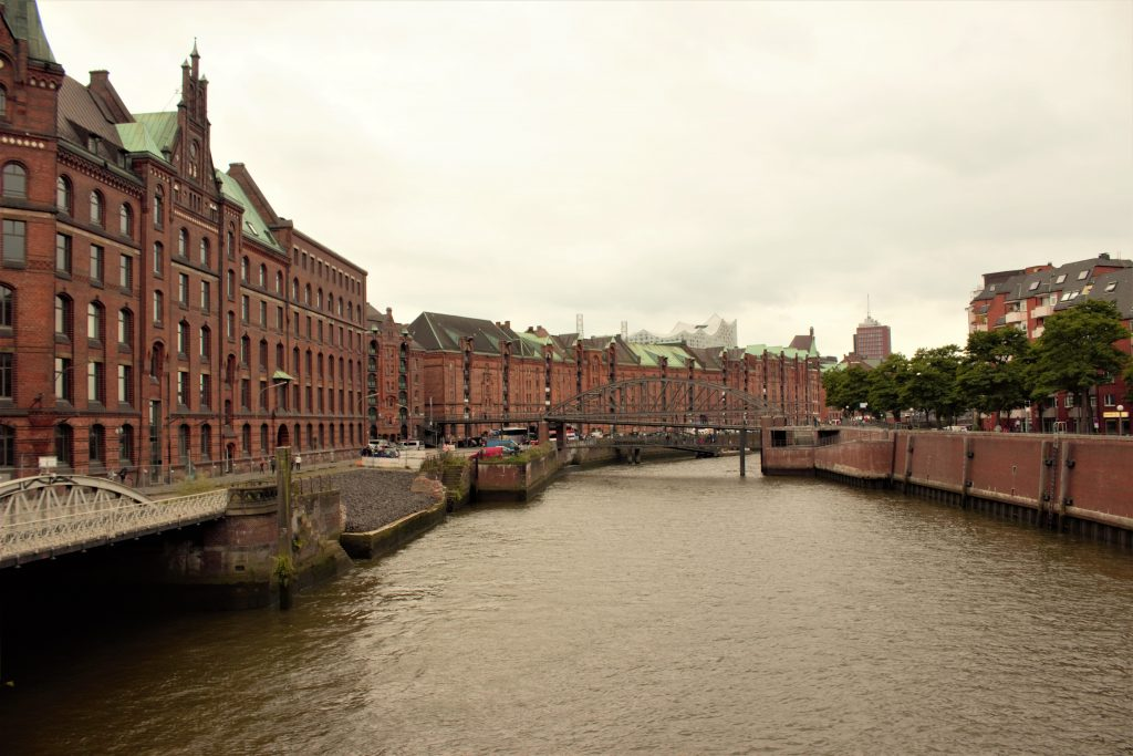 Speicherstadt - the large wharf area and one of Hamburg's architectural icons today Germany